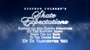 Colbert's Skate Expectations Up to Vancouver '010