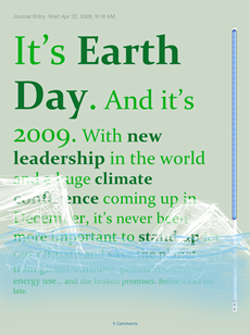 Journal entry on deviantART for Earth Day 2009